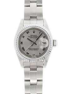 ROLEX DATEJUST STAINLESS STEEL 26MM WITH FLUTED WHITE GOLD BEZEL