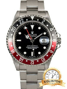 """ROLEX GMT MASTER II 16710 COKE """"2003"""" BOX & PAPERS"""