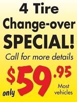 Tire changeover special