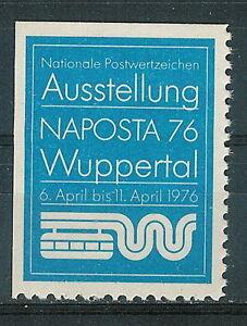 Germany - label 1976 Philately Naposta (blue) - <span itemprop=availableAtOrFrom>Bystra Slaska, Polska</span> - Germany - label 1976 Philately Naposta (blue) - Bystra Slaska, Polska
