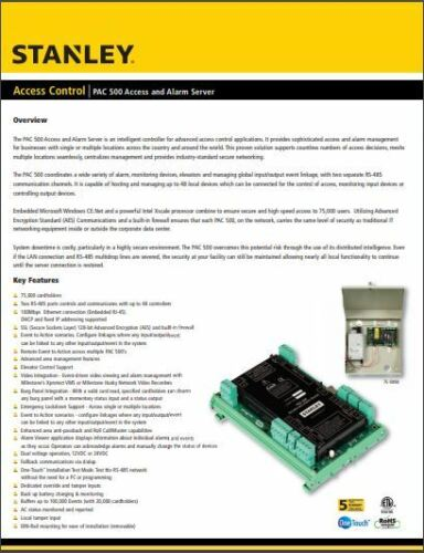 Stanley PAC 500 Access & Alarm Server
