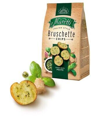 Maretti Bruschette Sweet Basil Pesto Gebackene Weißbrotscheiben 150g 6er Pack