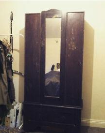vintage dark wood wardrobe