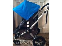 Great Bugaboo Cameleon 2 in Blue & Charcoal with Extras