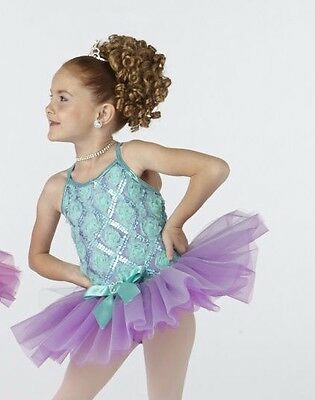New Ballet Costume Girls Orchid Pistachio Organdy Tutu Rosettes Bows WolffFordin
