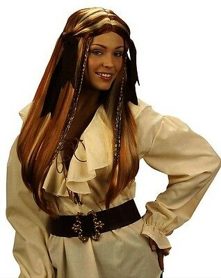 Ladies Caribbean Pirate Wig Ginger w/Ginger Jack Sparrow Captain Peter - Captain Jack Sparrow Wig