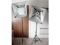 Interfit Super cool-Lite 5 - Pro photo/Video Studio lights (pair)