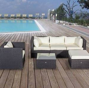 Outdoor Sofa  Set 5 Seater Brown Erskine Park Penrith Area Preview