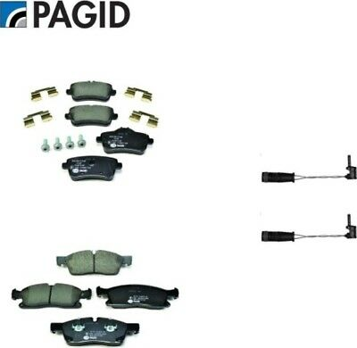 Mercedes ML250 ML300 W166 12 15 Front  Rear Brake Pads Wear Sensors All Pagid