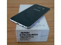 SAMSUNG S6 EDGE PLUS MINT LIKE NEW BLACK UNLOCKED FULLY BOXED ONLY £340