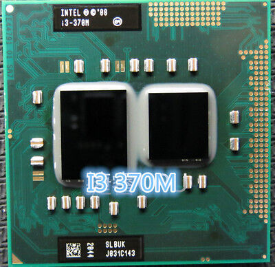 For Intel Mobile i3-370m CPU 2.4GHz Socket G1 rPGA988A rPGA989A Laptop Procossor for sale  Shipping to Canada