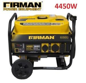 NEW FIRMAN PORTABLE GENERATOR P03602 223767698 GAS POWERED  4450W STARTING 3650W RUNNING