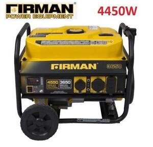 USED FIRMAN PORTABLE GENERATOR P03602 224705194 GAS POWERED 4450W STARTING 3650W RUNNING