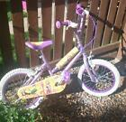 """Disney Princess bike 16"""" with helmet and elbow and knee pads and bell"""