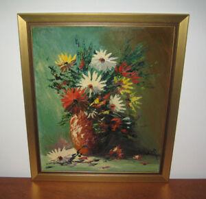 """Aubaine: Tableau """"Arrangement Floral"""" dans un cadre doré"""