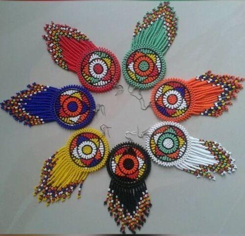 Zulu earrings-African Bead Jewelries
