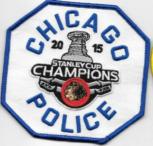 CHICAGO ILL IL POLICE DEPT 2015 STANLEY CUP CHAMPS BLACK HAWKS HOCKEY CHAMP