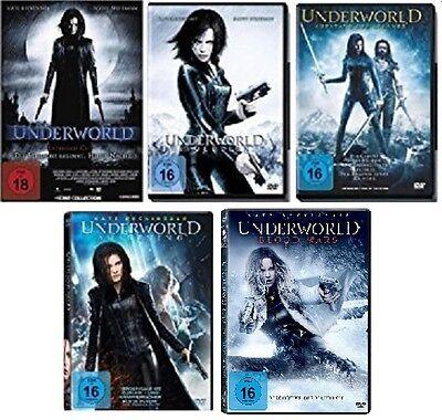 6 DVDs * UNDERWORLD  TEIL 1 + 2 + 3 + 4 + 5 IM SET ~ FSK 18 # NEU OVP $< ()