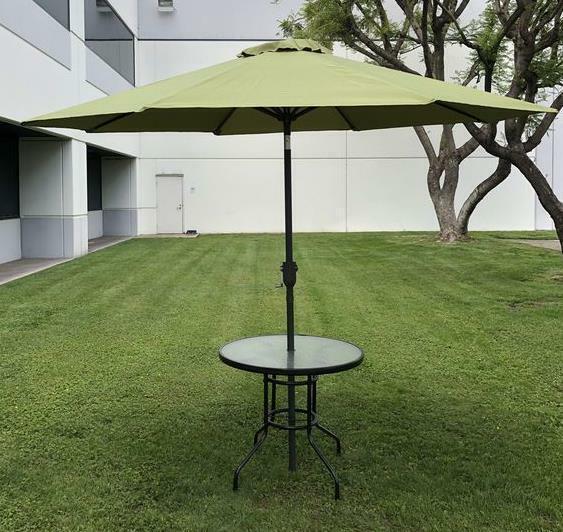 9FT 8 Yard Tilt Patio Shade Beach Umbrella Garden Yard Sun Outdoor Crank ribs w0PnOk