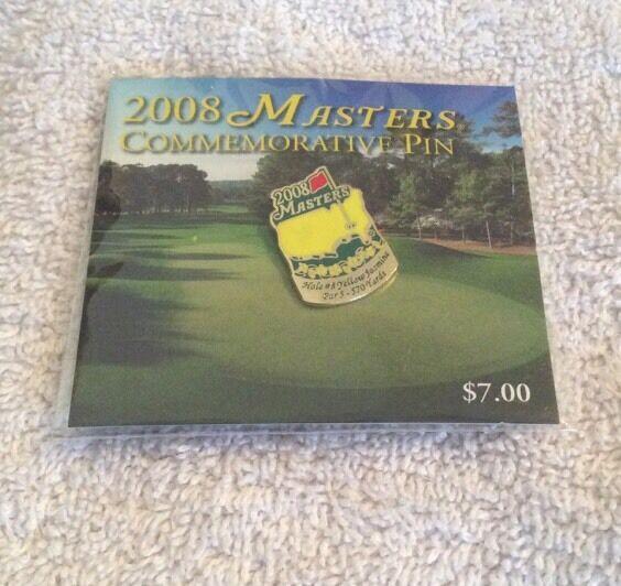 2008 Masters COMMEMORATIVE Pin-Hole 8 Yellow Jasmine!  2014 2015