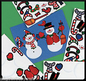 60-Stickers-TWO-Sheets-Snowman-Sticker-Scenes-for-Kids-Christmas-Party-ABCraft