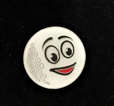 GOLF BALL MARKER unusual- Emoji 'Smiley' His or Hers Novelty Golf Ball Marker for sale  Shipping to Ireland