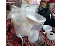 Tommee tippee manual breast pump with accessories