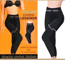 2 pairs of slimming leggings 18-20