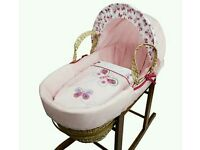 Kinder valley pink Butterfly moses basket. Brand new in sealed packs. 3 left in stock. Brand new.