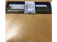 Brand new Kingston KCP316NS8/4, 4 ddr 3 GB 1600 MHz desktop ram memory