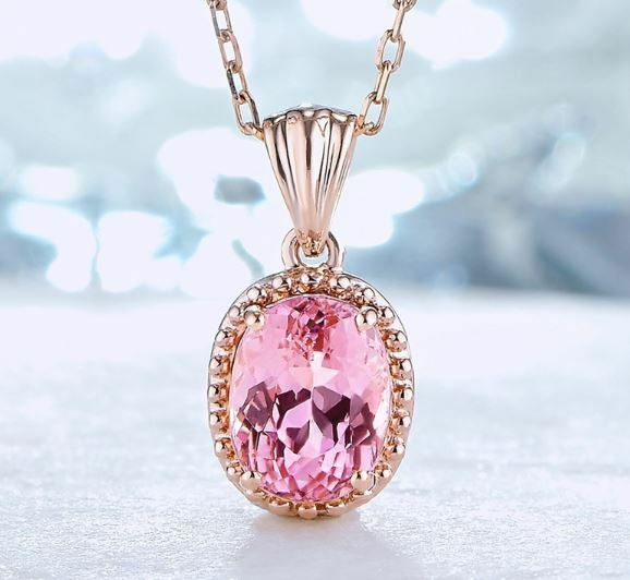 Jewellery - Rose Gold Round Pendant 925 Sterling Silver Necklace Jewellery Womens Love Gift