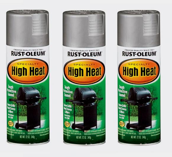 RUST-OLEUM 7716830 High Heat Spray, Silver, 12 oz.