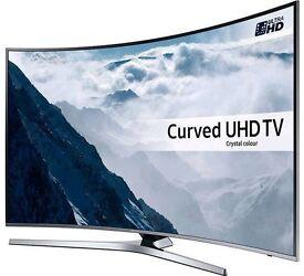 "Samsung 65"" curved uhd smart led TV 2017 model UE65KU6100 model"