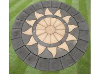 Aztec Sun Star Circle 3.46m Large Patio Paving Feature