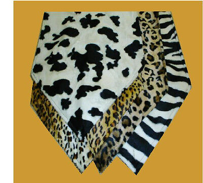 Animal Print Table Runner Leopard Zebra Cheetah Cow Print Western Safari Printed Table Runner