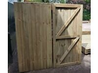 HEAVY DUTY FULLY FRAMED PRESSURE TREATED GARDEN GATES BESPOKE MADE TO MEASURE TOP QUALITY TIMBER