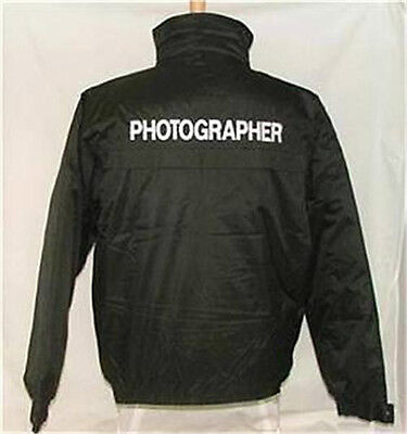 Photographer Waterproof Jacket Embroidered Frnt & Bak L