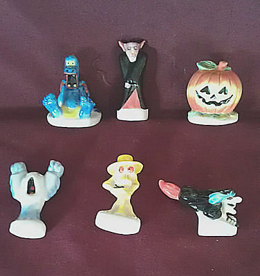 Gel Candle Embeds - Porcelain Halloween Set, 6 pcs, Collectibles, Gel Candle Embeds, Display