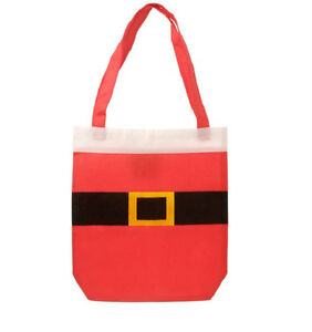 Lot-of-4-SANTA-CLAUS-CHRISTMAS-Tote-Girl-Treat-Bags-Scouts-PROJECTS-gifts-party