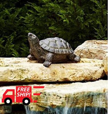 24 in Bronze Large Turtle Statue Garden Patio Pool Outdoor Backyard Decor NEW