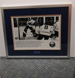 Roger Crozier Goalie for Buffalo Sabres Photo Framed and Matted