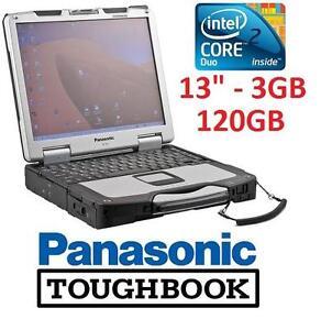 "REFURB PANASONIC TOUGHBOOK 13"" PC - 102140028 - COMPUTER RUGGED LAPTOP NOTEBOK - INTEL 2 DUO - 3GB-120GB SSD - WIN 7 PRO"