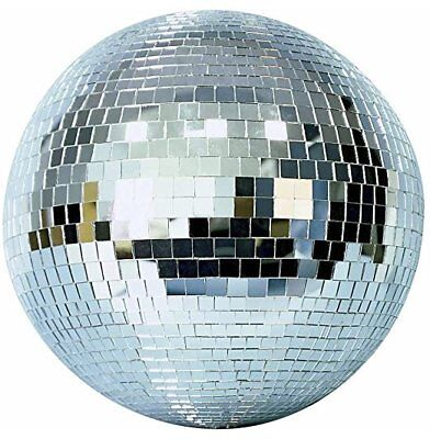 GIANT 16 INCH MIRROR BALL  party supplies disco balls reflection spinning dj new - Disco Ball Party Supplies