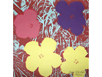 ANDY WARHOL - 'TEN FOOT FLOWERS' - LARGE HAND NUMBERED VINTAGE LITHOGRAPH - c1986 (CMOA offic stamp)