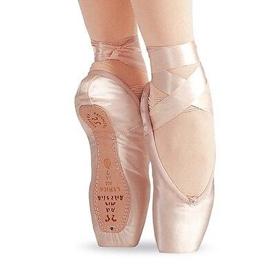 Sansha 404 Womens 6W  Fits Size 3 5 To 4  Pink Lyrica Pointe Shoes