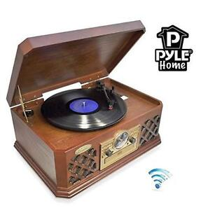 NEW* PYLE-HOME RECORD PLAYER BLUETOOTH CLASSIC STYLE TURNTABLE RECORD PLAYER 107704923