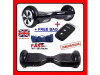 HoverBoard Two Wheel Balancing Electric Scooter Swegway Black with Remote Control Key & FREE Bag