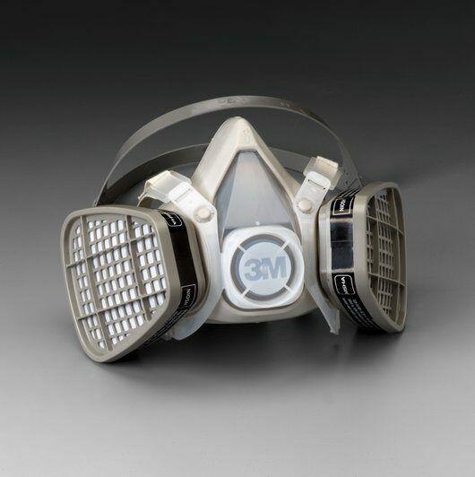 3M 5101 Half Facepiece Respirator W/ Organic Vapor Cartridge SMALL Business & Industrial