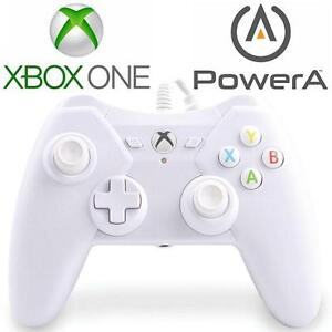 USED XBOX ONE POWERA CONTROLLER - 108956362 - WIRED - WHITE - VIDEO GAMES