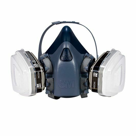 3M, 7 IN 1, 7501 Half Face Reusable Respirator For Spraying & Painting, SMALL Business & Industrial